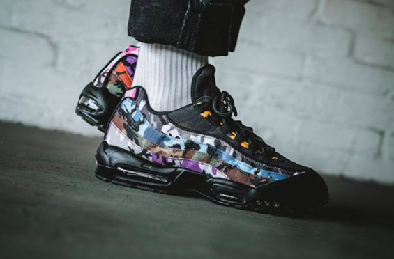 Now Available  Nike Air Max 95 ERDL Party Black Multicolor The Nike Air Max  95 814f9a23f