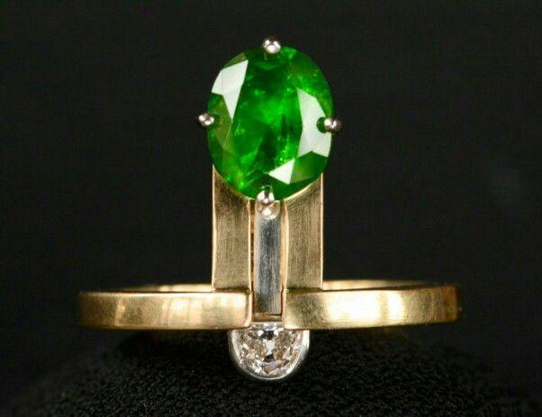 EB demantoid garnet ring