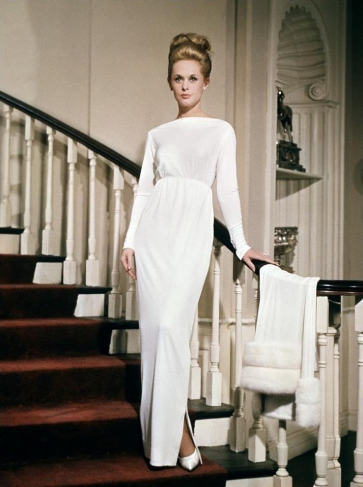 Tippi Hendren in Marnie (1964). Edith Head dress.