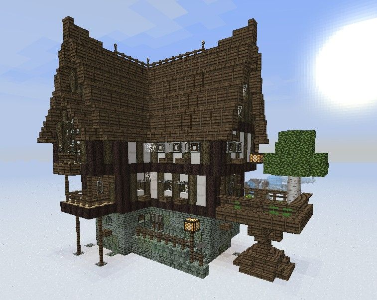 Minecraft medieval house schematic medieval fantasy for Modele maison minecraft