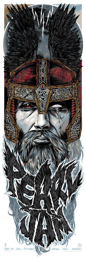 Not that I'm a huge fan of pearl jam but this is awesome!!!    Studio Seppuku - The Art of Rhys Cooper — PEARL JAM - Oslo, Norway gigposter - ODIN raven.