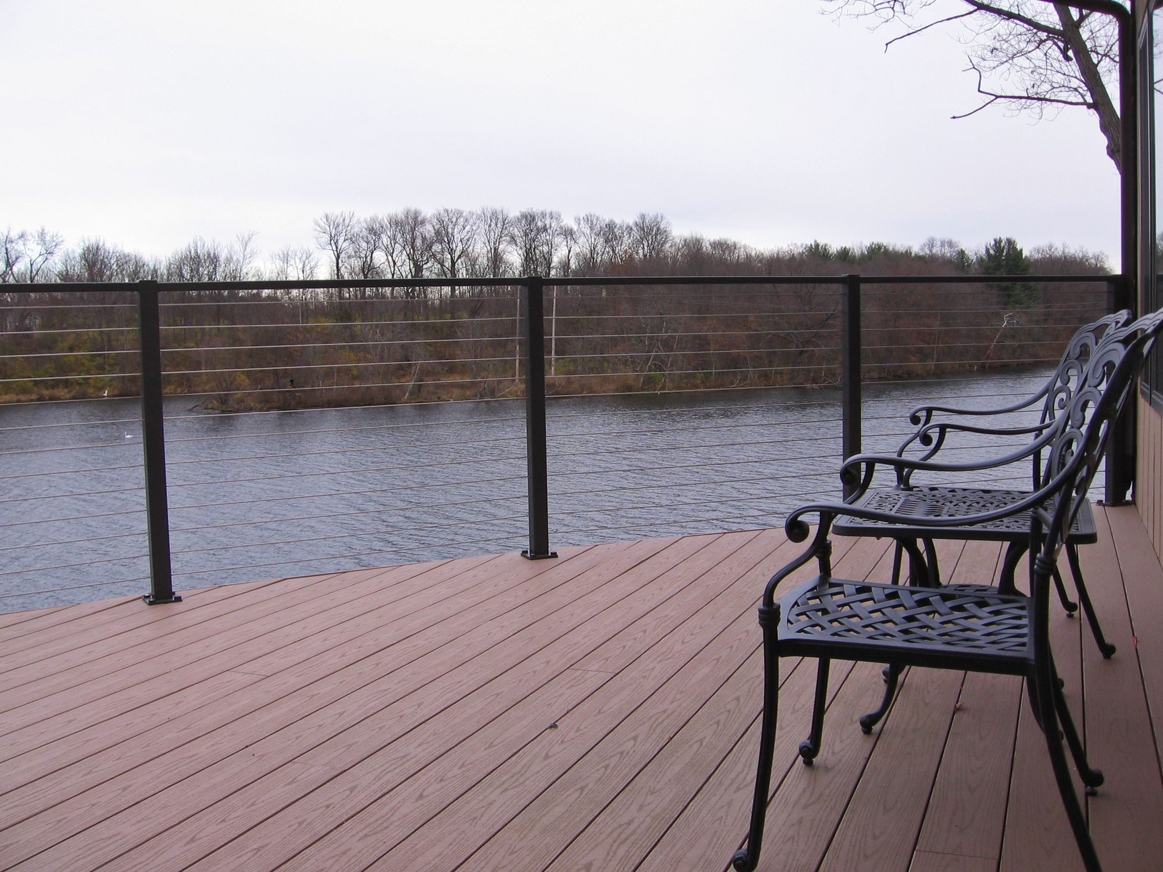 Waterfront Deck With Cable Railing System This Is Our