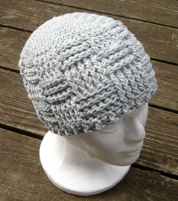 Crochet Pattern For Unisex Basket Weave Beanie 8 Sizes Preemie