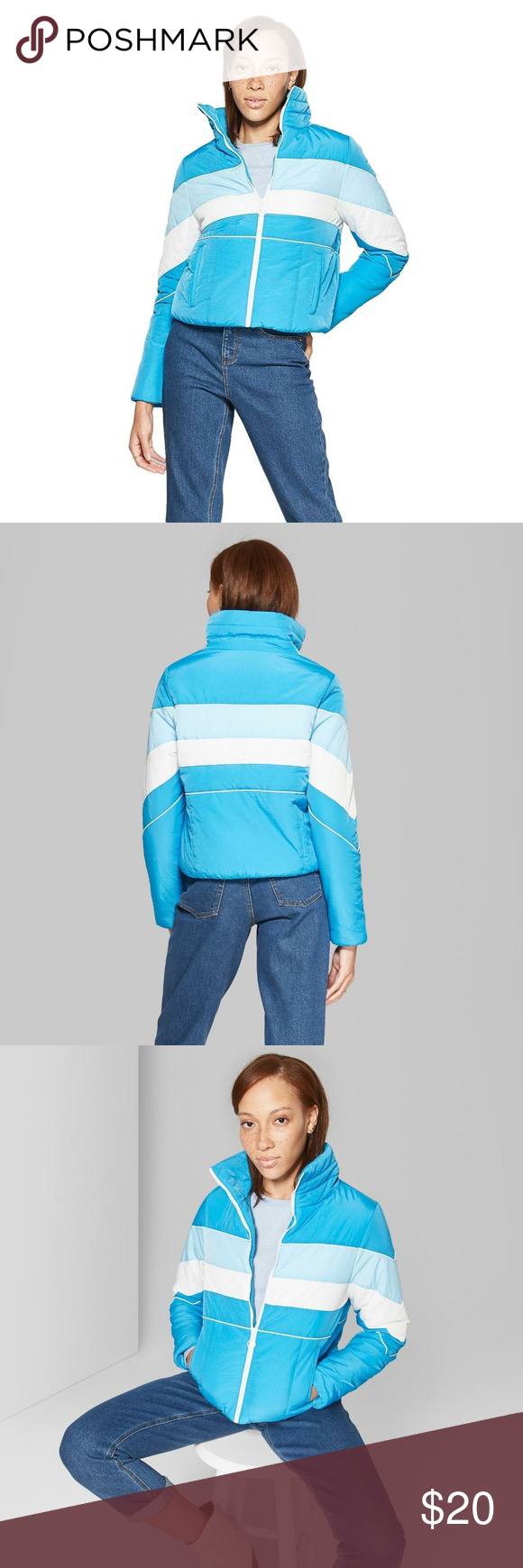 Nwt Wild Fable Color Blocked Puffer Jacket Xs Blue Puffer Jacket Long Jackets Puffer Jackets [ 1740 x 580 Pixel ]