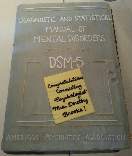 Counseling Psychology Graduation Cake Dsm 5 Masters Degree On Deck
