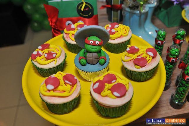 Cupcake - Pizza - As Tartarugas Ninja