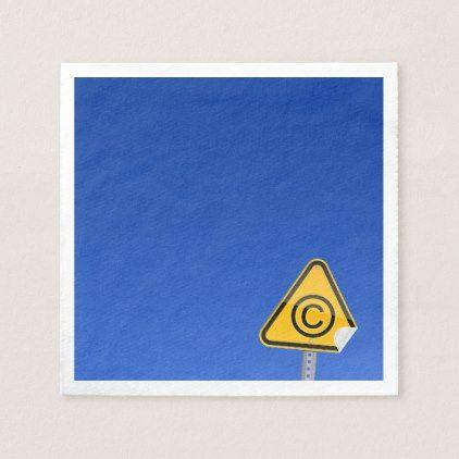 Copyright C Sign Paper Napkins Custom Diy Cyo Personalize Idea Diy Napkins Paper Napkins Paper Gifts
