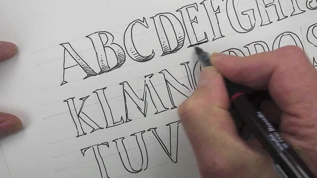 how to draw an alphabet of serif capital letters | shoo rayner in