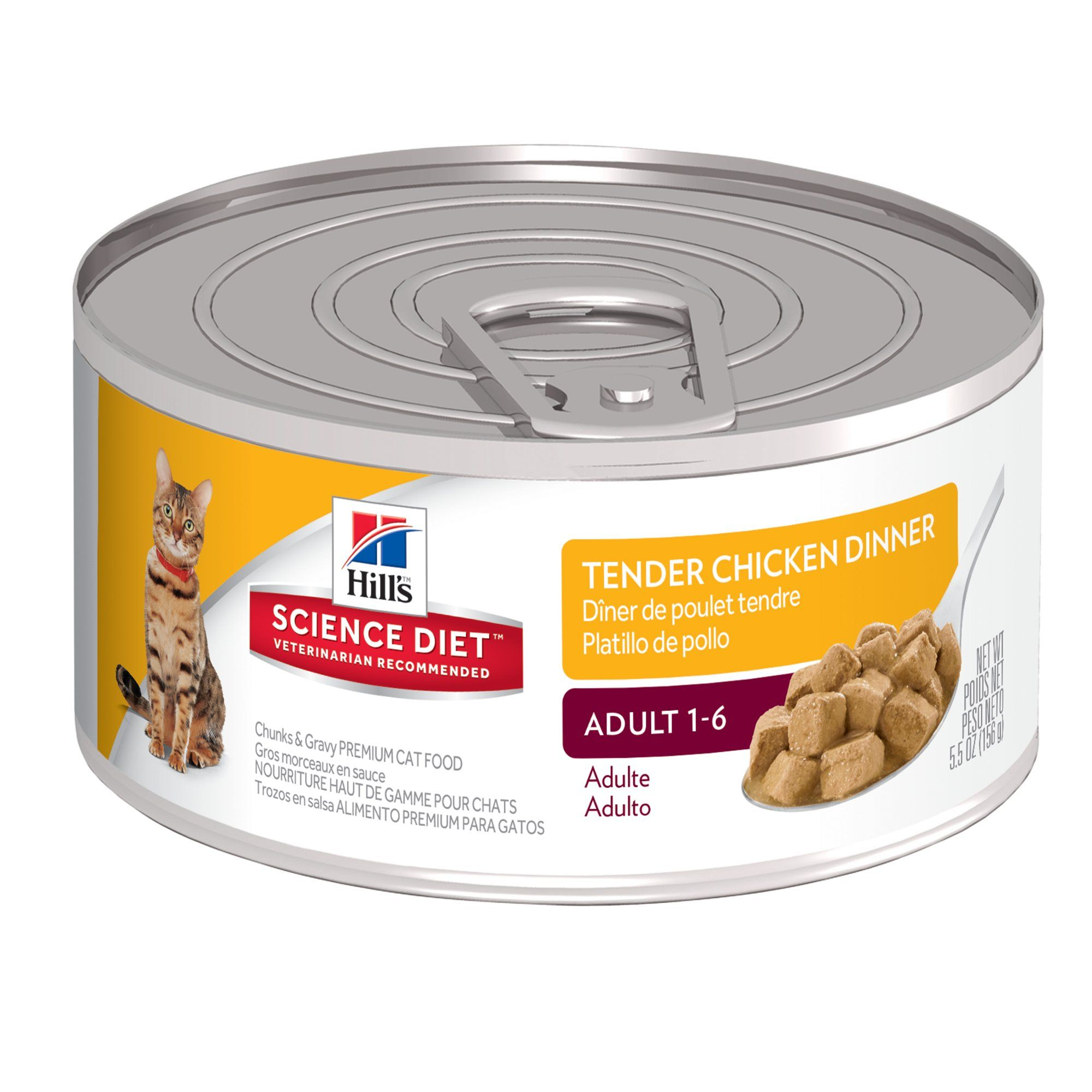 Hill S Science Diet Adult Tender Chicken Dinner Canned Cat Food 5 5 Oz Case Of 24 24 X 5 5 Oz Canned Cat Food Hills Science Diet Science Diet