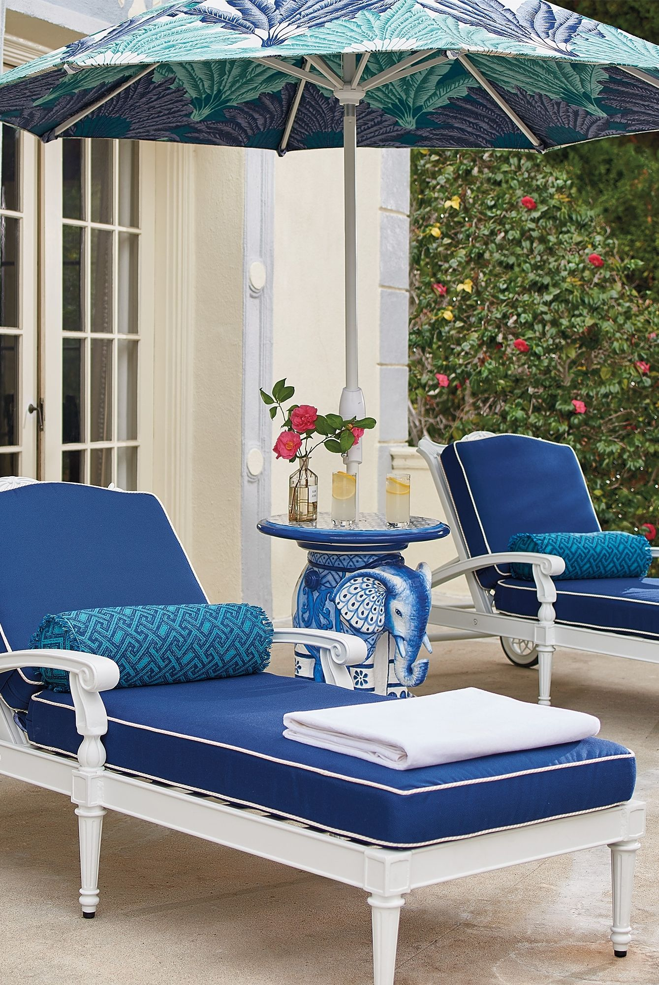 frontgate outdoor lounge chairs office chair with footrest uk inspired by neoclassical interiors our glen isle white