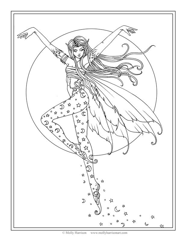 Free Fairy Coloring Page By Molly Harrison Lunas Ascent