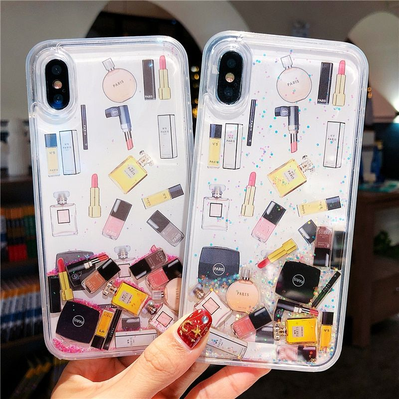 Makeup cosmetic quicksand case for iphone XS Max X XR