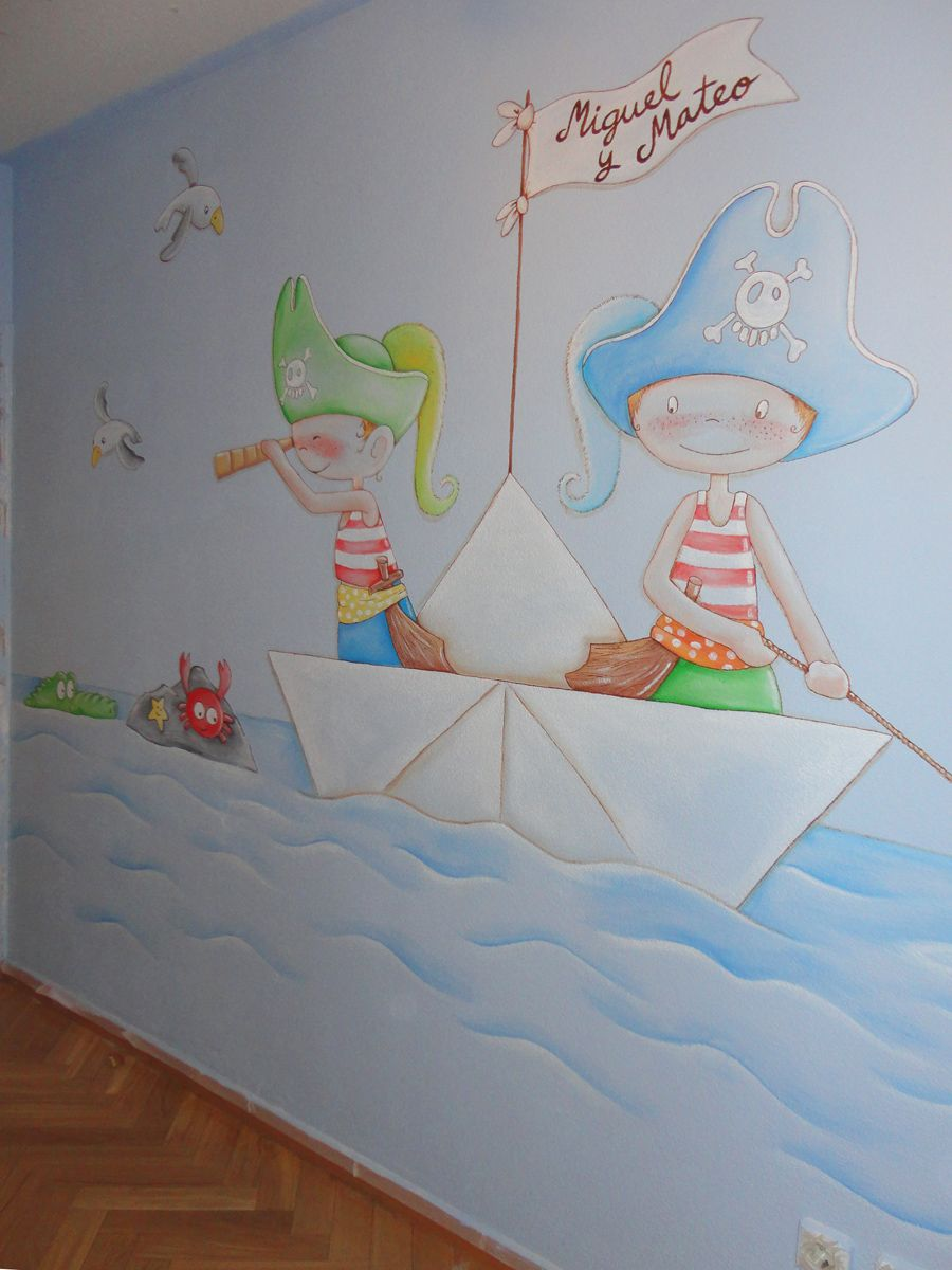 mural infantil pared