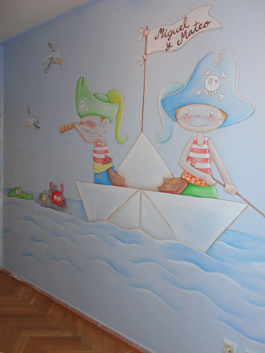 mural pirata pared dibujo de piratas en paredes MURALES