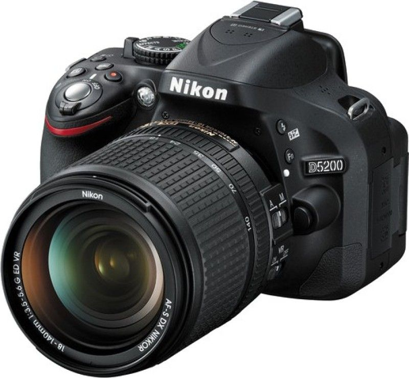 Nikon D5200 DSLR Camera (Body with 18 - 140 mm VR DX Lens
