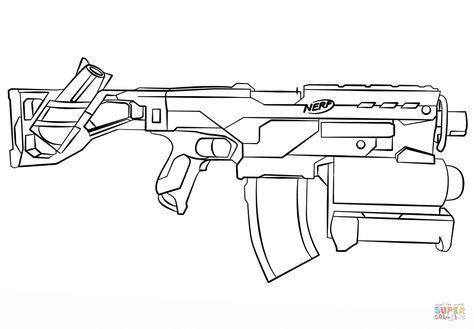 Nerf Gun coloring page | Free Printable Coloring Pages | božični ...