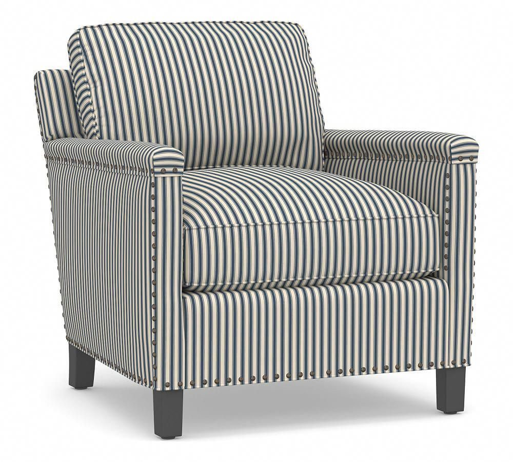 Tyler Upholstered Square Arm Armchair In 2020