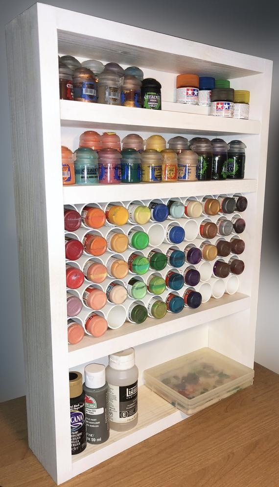 Paint Rack For Miniature Paints 116 Paint Capacity