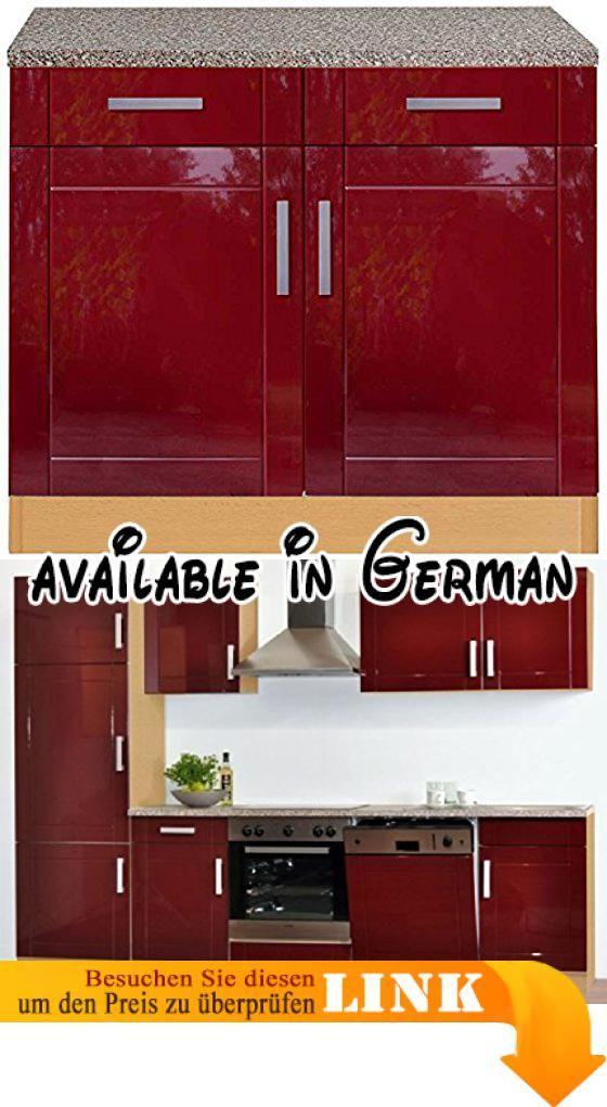 B005LUTIUW  Küchen Unterschrank rot buche 100 Chicago Pharao24