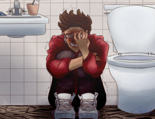 Image result for michael in the bathroom fanart