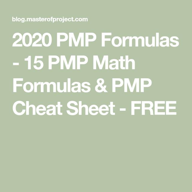 15 PMP Math Formulas & PMP Cheat Sheet