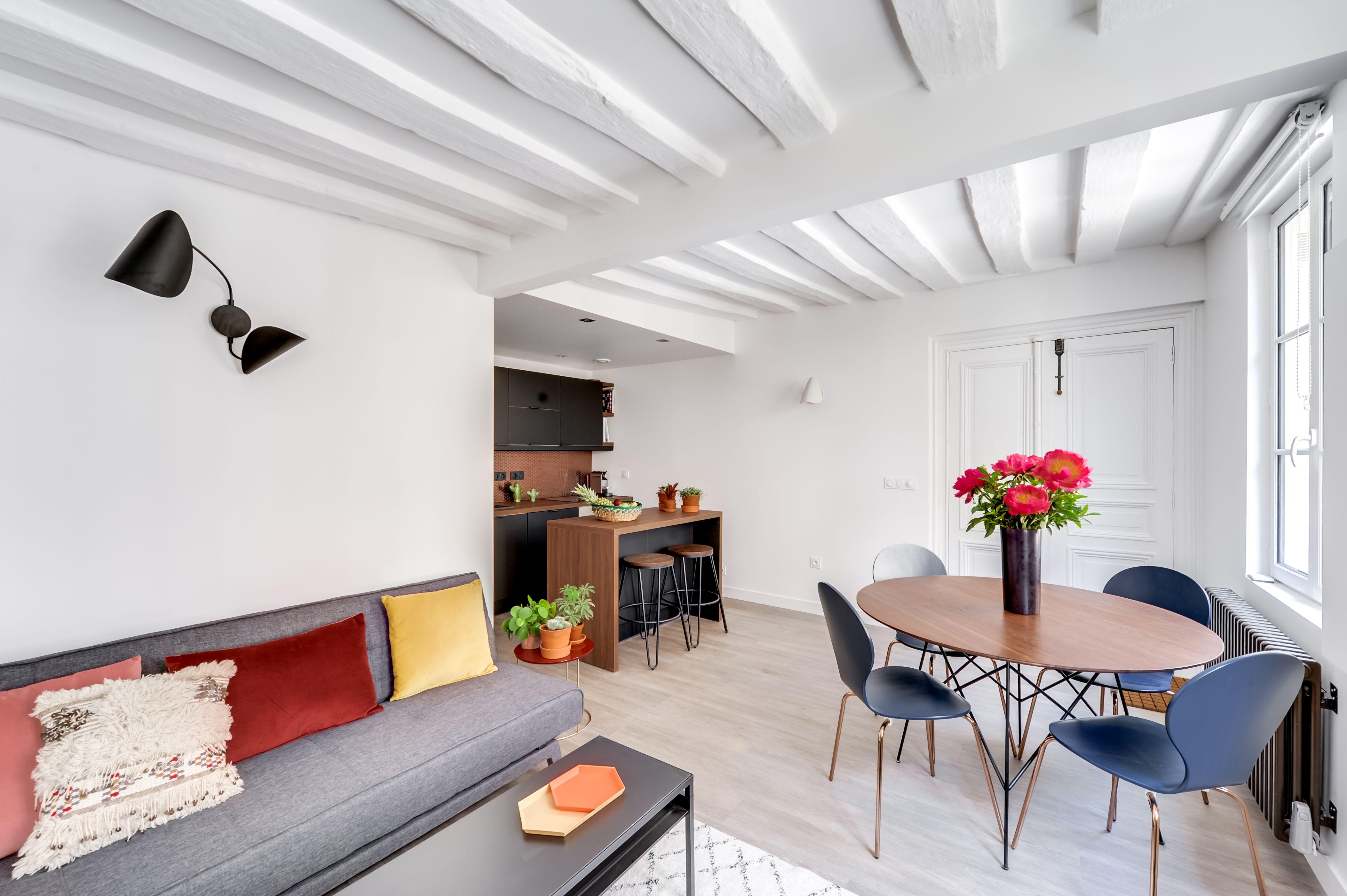 salon salle manger rnovation complte dun appartement de 40 m2 proche