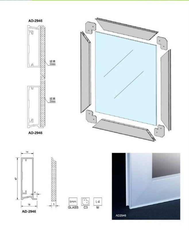 Cozinha Borda Livre Armario De Vidro Porta De Aluminio Perfil Com