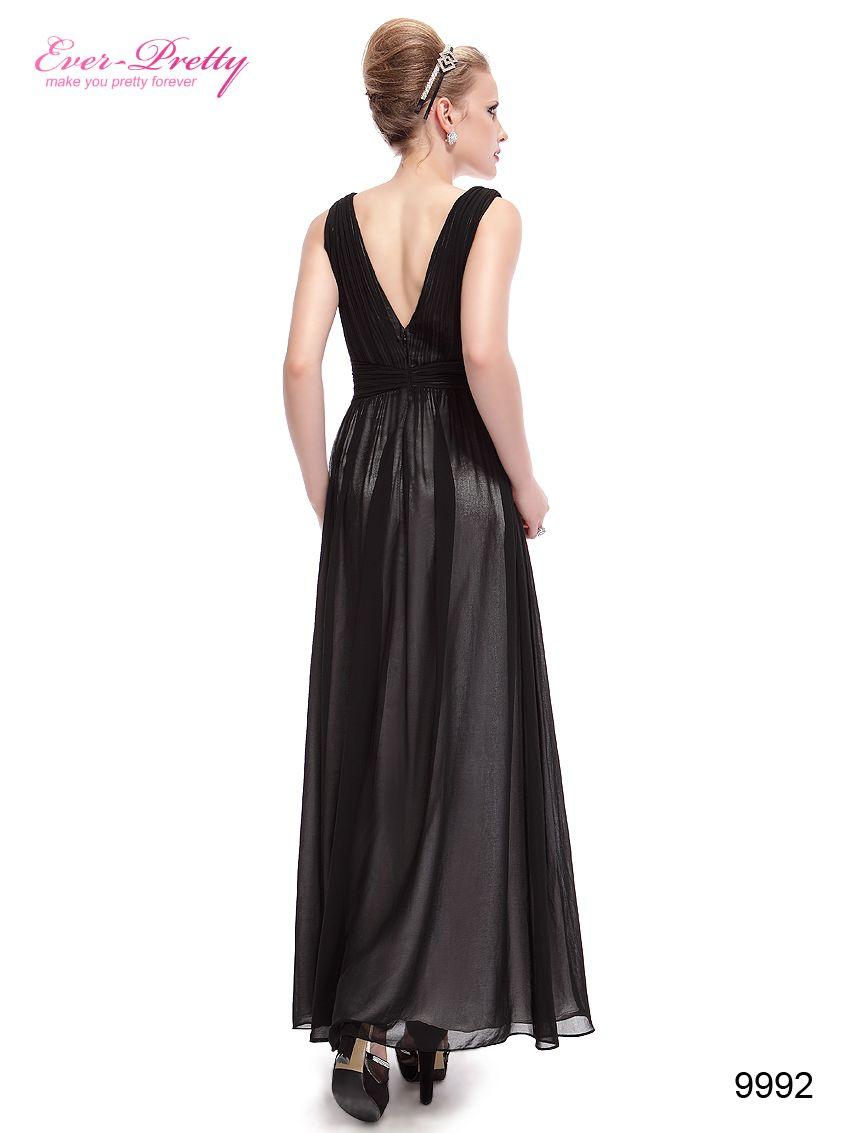 Elegant maxi evening dress padded enough for