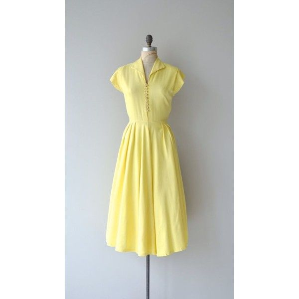 Sonnenschein dress 1940s linen dress vintage 1940s dress ❤ liked on ...