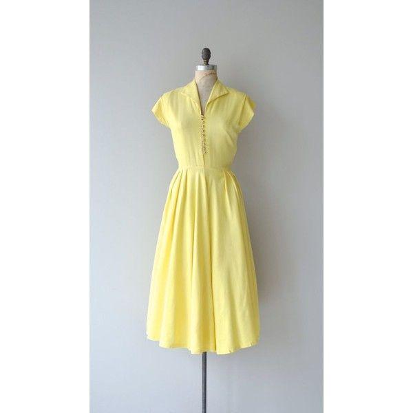 Sonnenschein dress 1940s linen dress vintage 1940s dress ❤ liked on ...