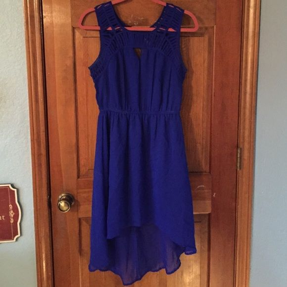 Blue Hi-Lo Dress This fun dress has only been worn twice and is great for any occasion! Charlotte Russe Dresses High Low