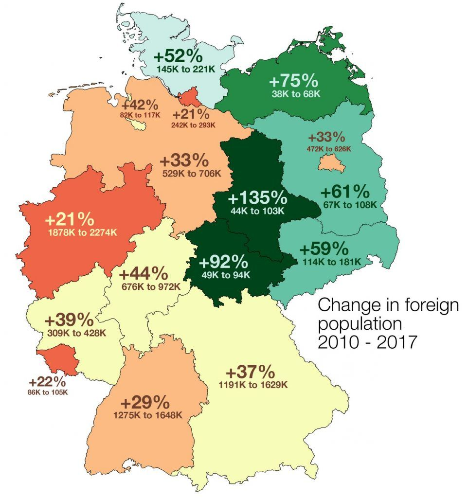 Immigrant potion in Germany | Germany, Map, Indian language on map of european countries, map of amsterdam, map of prussia, map of romania, map of norway, map of rhine river, map of austria, map of switzerland, map of luxembourg, map of czech republic, map of united states, map of german cities, map of denmark, map of bundesliga teams, map of hungary, map of berlin, map of uk, map of netherlands, map of czechoslovakia, map of bavaria,