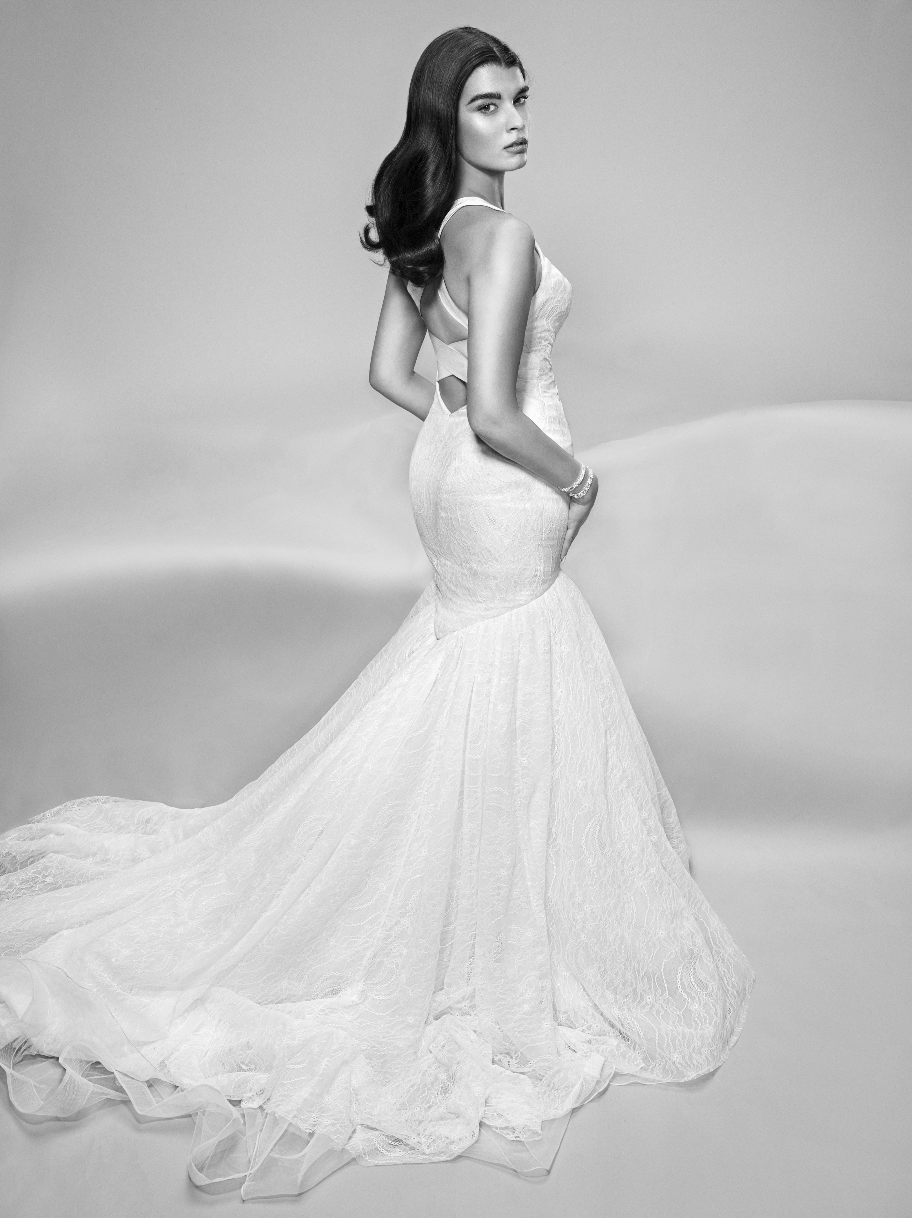 Truly Zac Posen Criss Cross Back Wedding Dress at David\'s Bridal ...