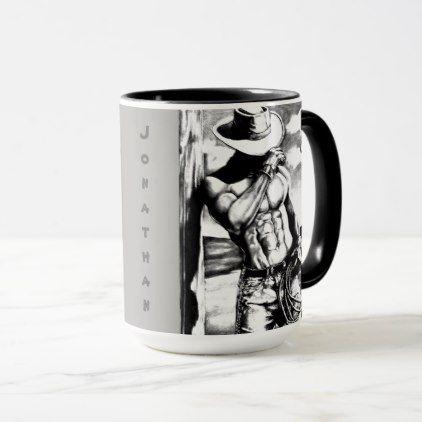 6d246e0a836 Masculine Personalized Cool Cowboy Coffee Mug   Zazzle.com   gifts ...