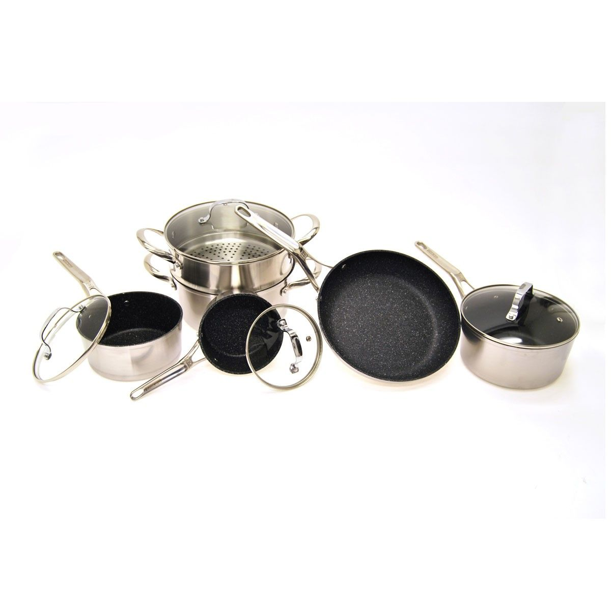 Heritage The Rock 10 Piece Bi Clad Cookware Set With Images