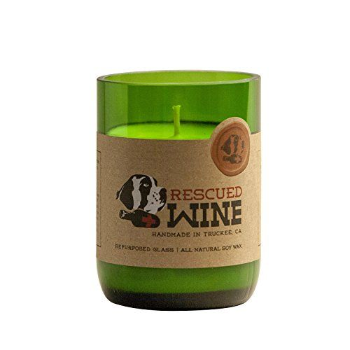 Rescued Wine Recycled Wine Bottle Soy Wax Candle, Cabernet ...