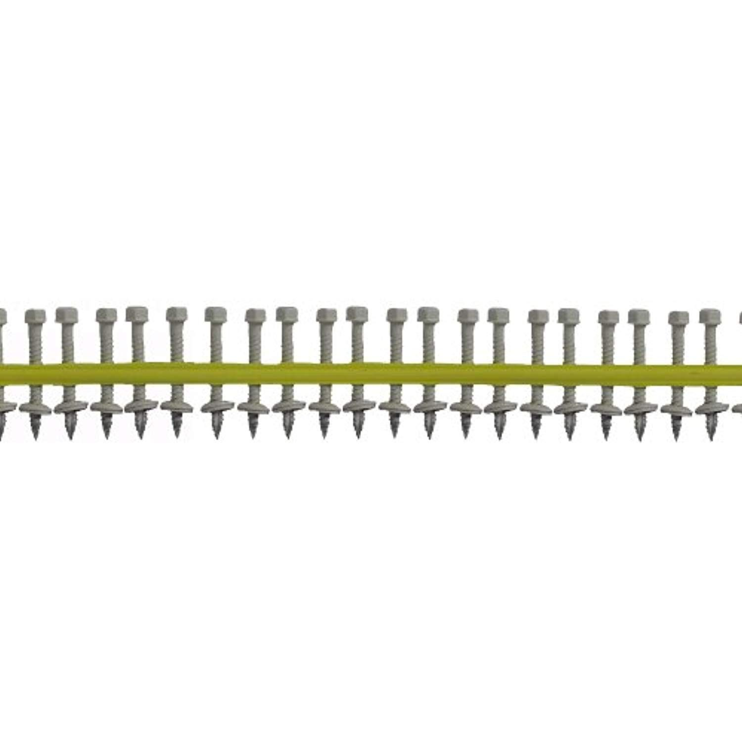 Quik Drive Hg112wswhite Metal Roofing And Siding Screw White Painted 1 4 Inch Hex Drive By 1 1 2 Inch With Epdm Backed Washer Metal Roof Hardware White Paints