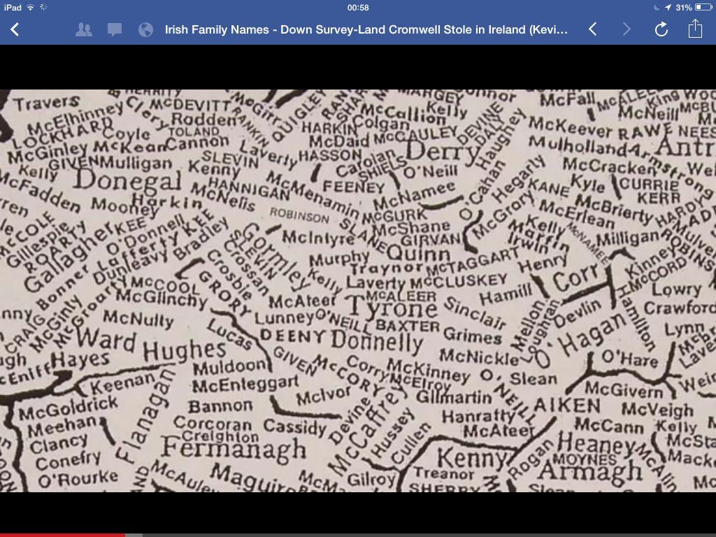Nc Ireland Surname Map