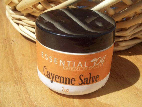 Cayenne Salve. 2 oz. Herbal Salve.  by EssentialJoyNaturals
