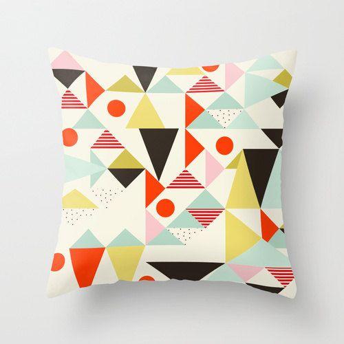 Geometric Pillow Abstract Art Throw Pillow Modern By Meninalisboa Pillow Art Geometric Pillow Print Design Pattern