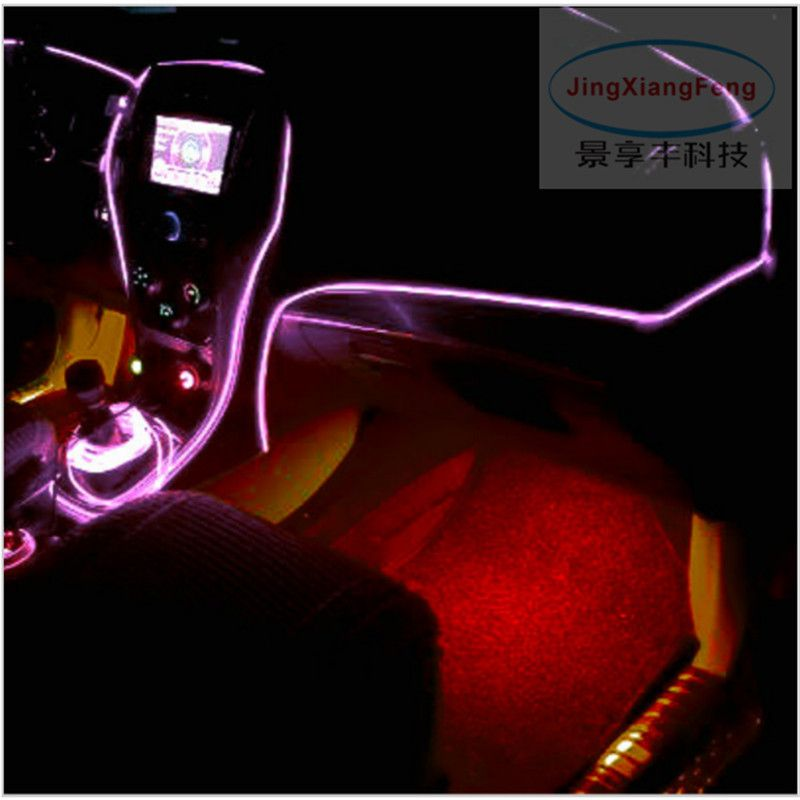 JingXiangFeng Car styling el products EL Wire Cold Neon Light for vw ...
