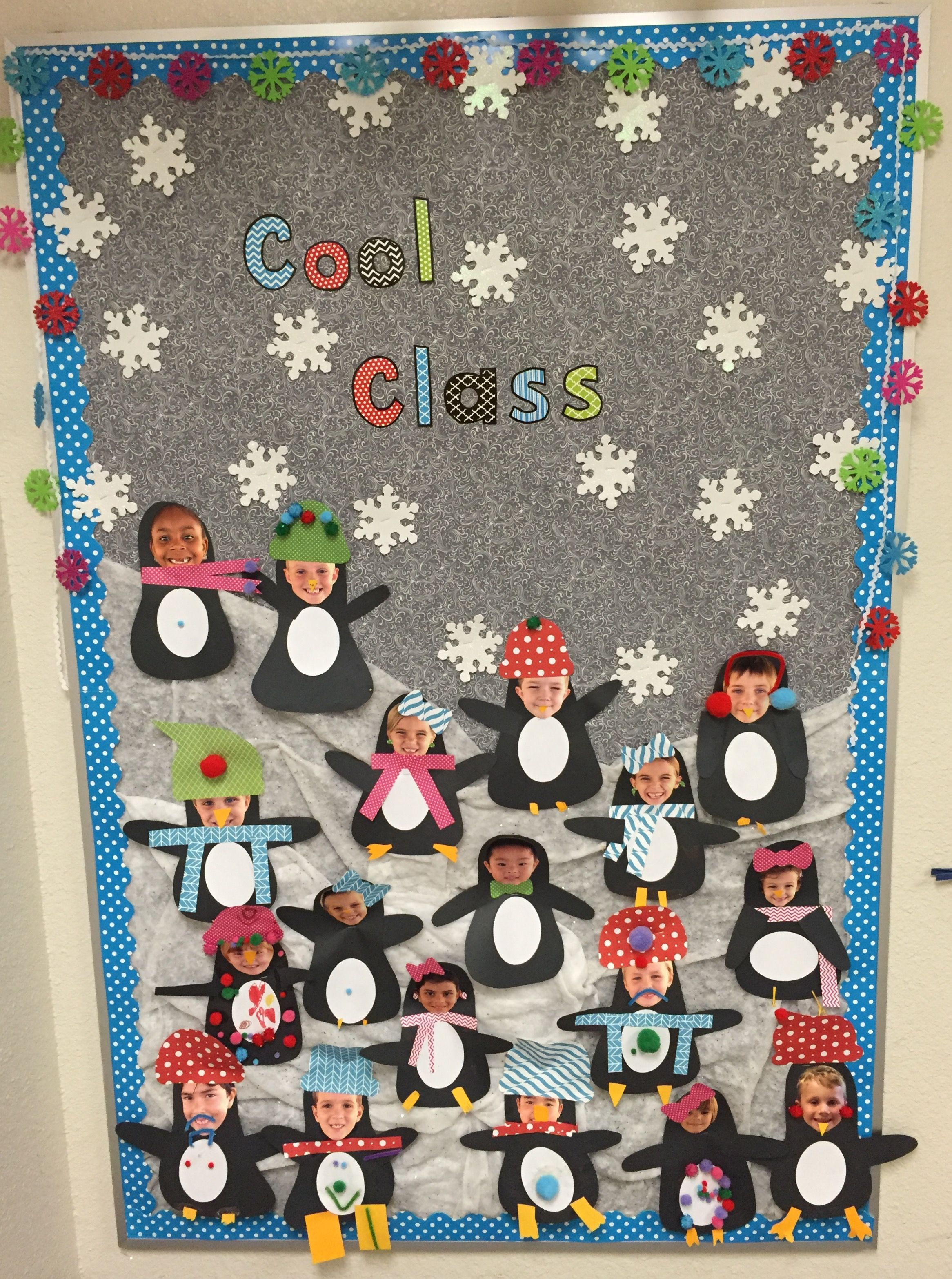 First Grade Winter Bulletin Board With Penguins