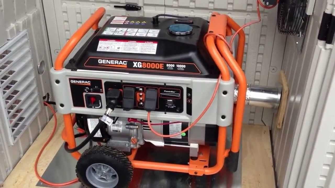 generac generator installed in a suncast garden shed for weatherproofing [ 1280 x 720 Pixel ]