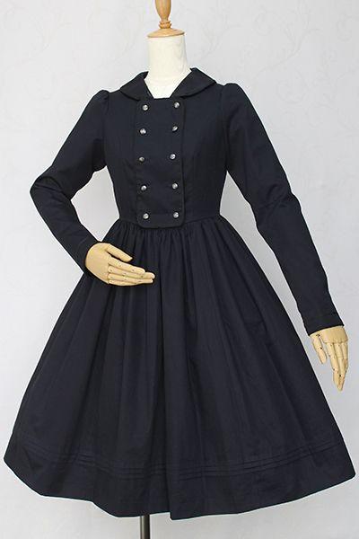 セーラーカラーグラウコーピスドレス Victorian maiden