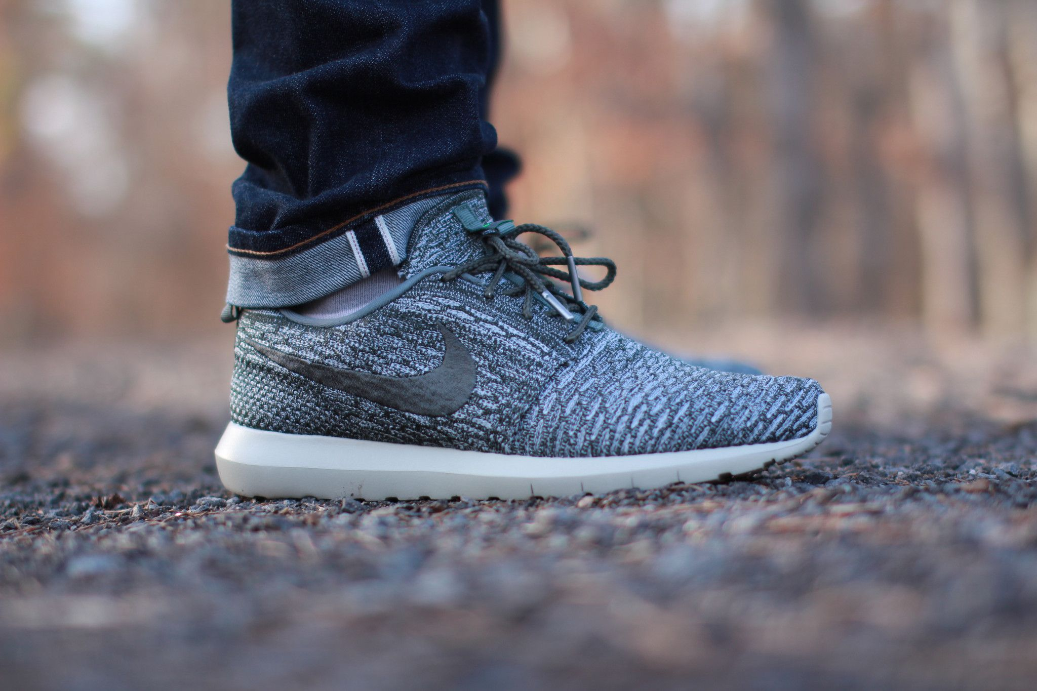 Nike Roshe Run Flyknit Wolf Grey Sequoia
