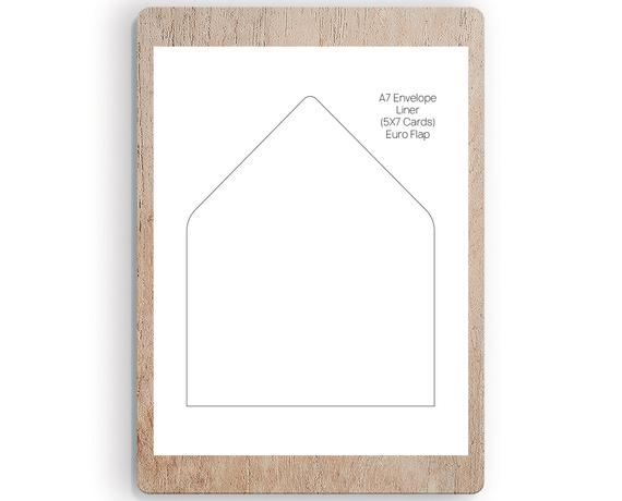 Printable A7 Euro Flap Liner Template Envelope Liners Wedding