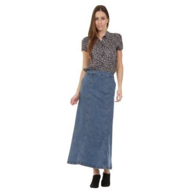 6c492700c Long Denim Skirt. Modest skirt at a modest price! #denimskirt #modestfashion
