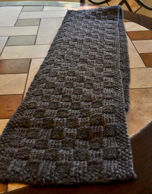 Man Scarf Pattern (With images)   Mens scarf knitting ...