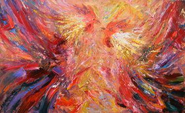 """Saatchi Online Artist Vitaliy Spasenov; Painting, """"Roosters"""" #art"""