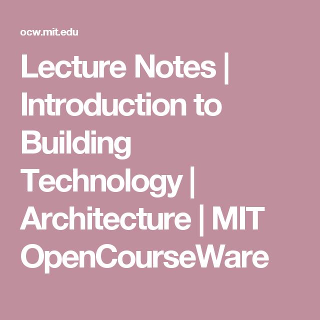 building construction technology lecture notes pdf